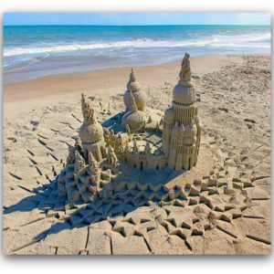 Sanctuary: sandcastle & photo by artist Lou Gagnon, available as aluminum prints at www.SandWaterSky.com ~ 2015© LynnVale Studios llc