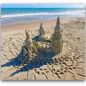 Sanctuary: sandcastle & photo by artist Lou Gagnon, available as aluminum prints at www.SandWaterSky.com ~ 2015© LynnVale Studios llc