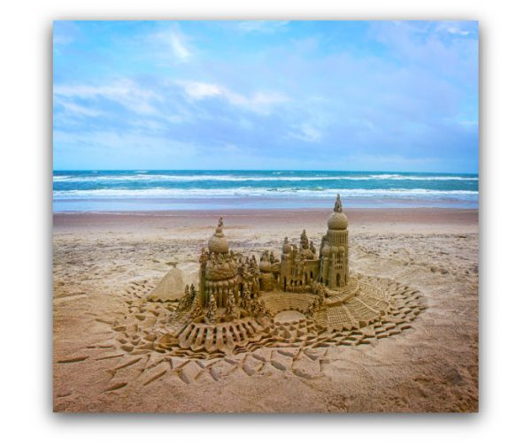Serenity: sandcastle & photo by artist Lou Gagnon, available as aluminum prints at www.SandWaterSky.com ~ 2015© LynnVale Studios llc