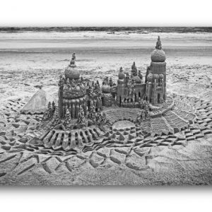 Silver Sanctuary: sandcastle & photo by artist Lou Gagnon, available as aluminum prints at www.SandWaterSky.com ~ 2015© LynnVale Studios llc