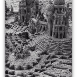 Silver Sand: sandcastle & photo by artist Lou Gagnon, available as aluminum prints at www.SandWaterSky.com ~ 2015© LynnVale Studios llc
