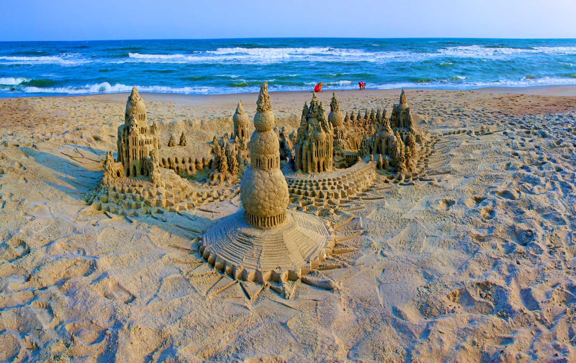 Something Unexpected: Sandcastle by Lou Gagnon available as aluminum prints in a variety of sizes.2015© LynnVale Studios llc